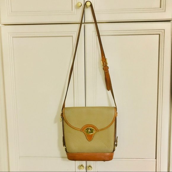 Dooney and Bourke taupe leather shoulder bag